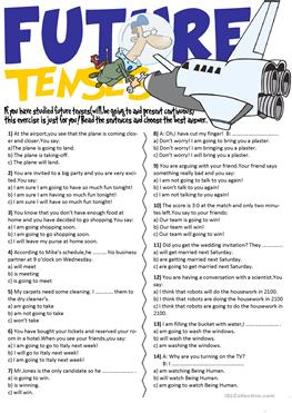 13 FREE ESL will and going to worksheets