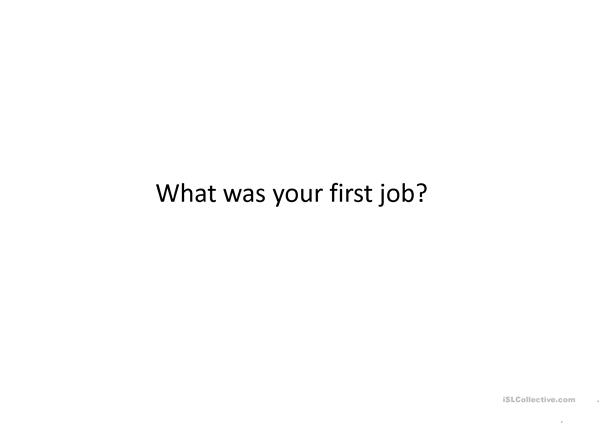 Conversational questions JOBS and OCcUPATIONS