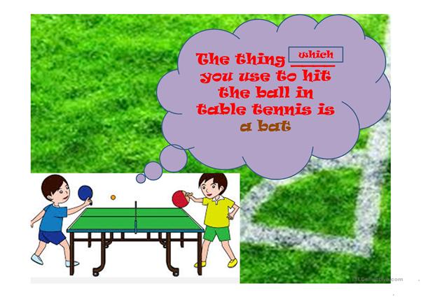 Relative Pronoun & Sporting Definition Quiz