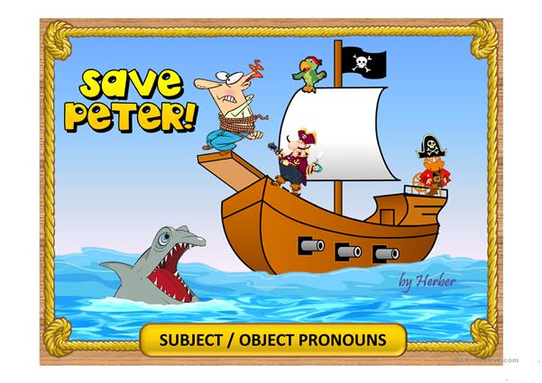 SAVE PETER - Subject/object pronouns