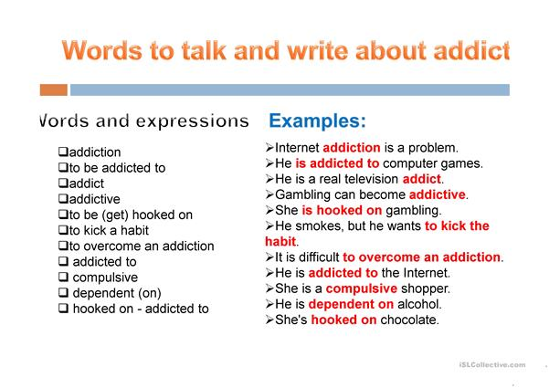 Talking about addictions or problem behaviours