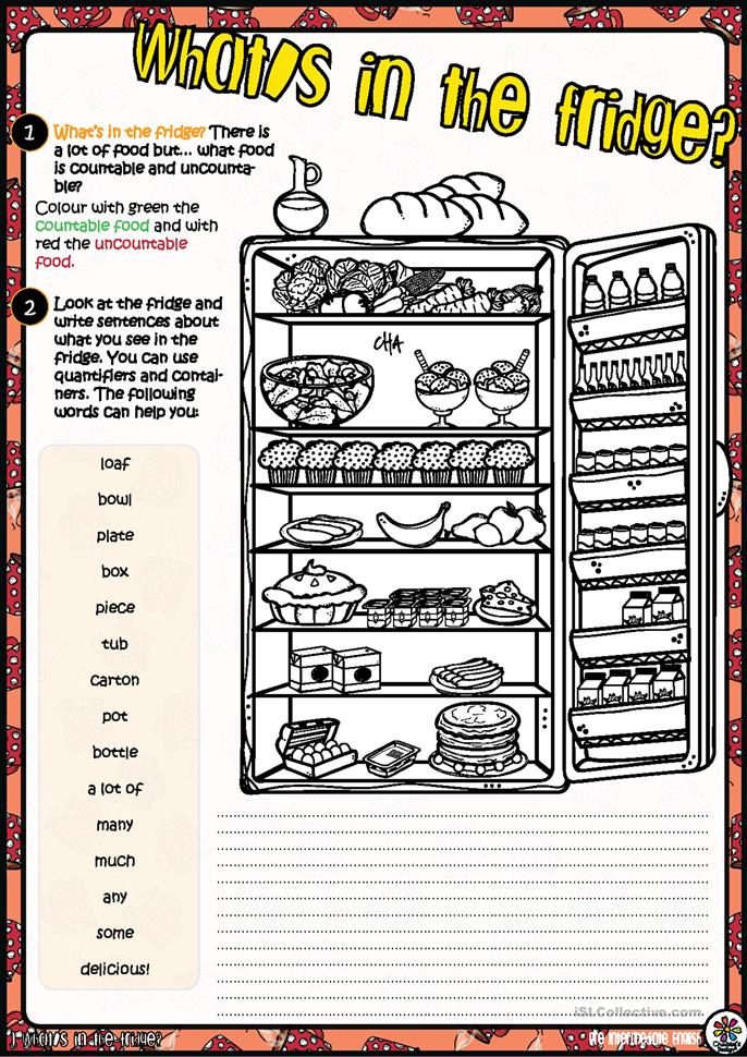 Delicious Food! WRITING TASK - ESL worksheets