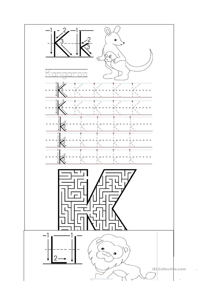 handwriting k o worksheet free esl printable worksheets. Black Bedroom Furniture Sets. Home Design Ideas