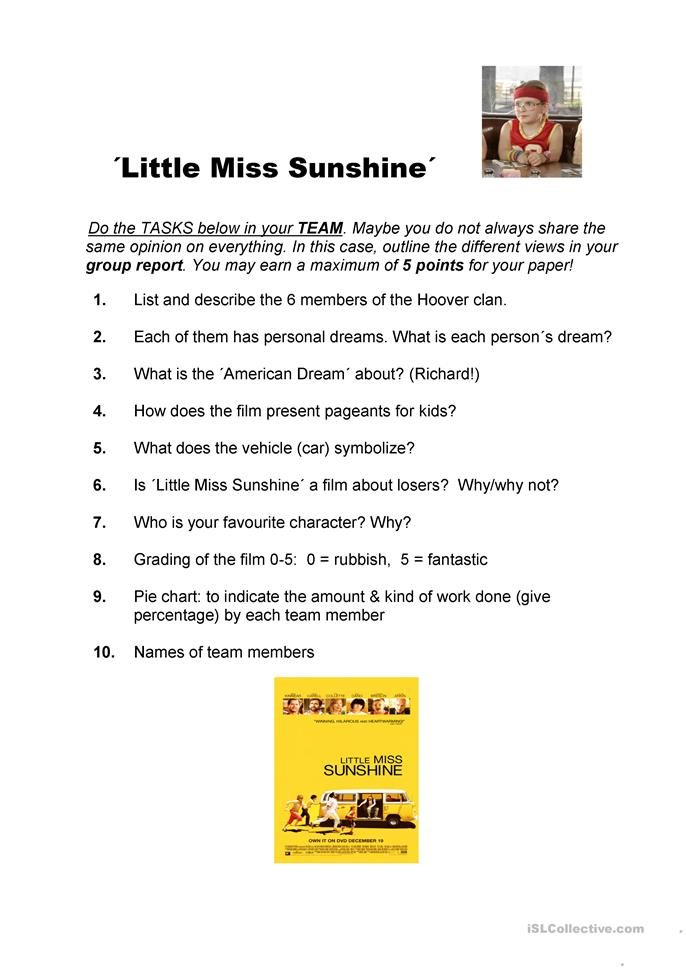 little miss sunshine journey essay Little miss sunshine essay plan on key aspect of narrative when writing this essay on the key aspect of narrative try to show how decisions made about the.
