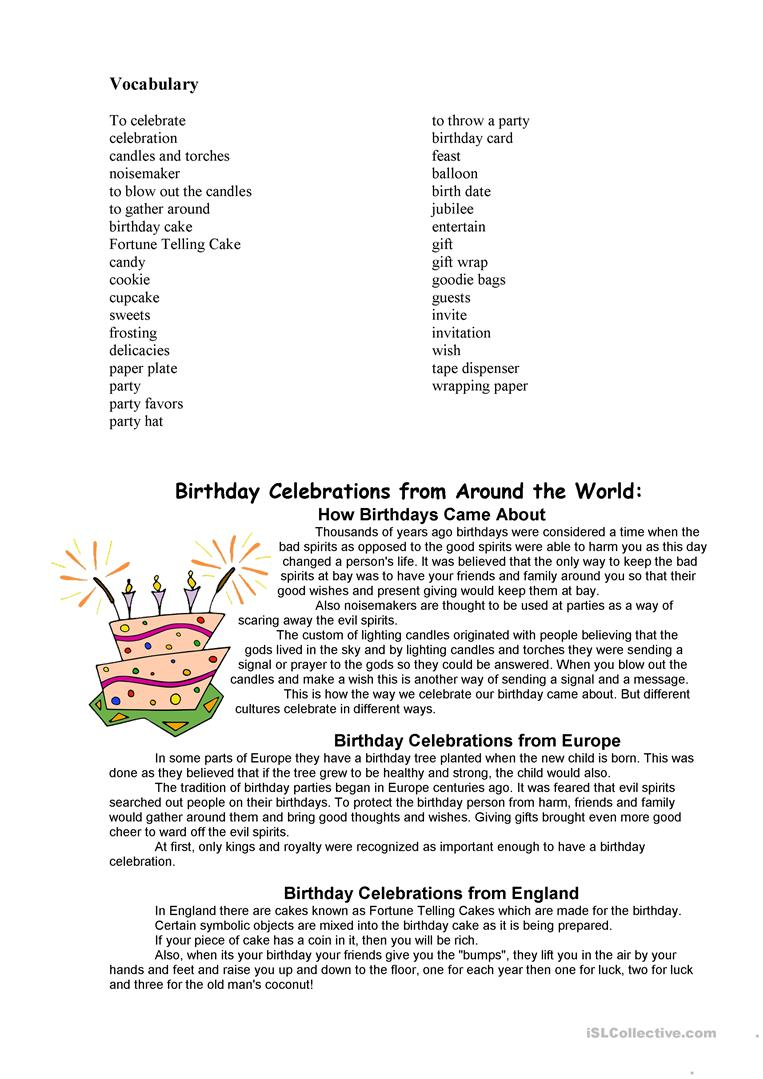 How to celebrate birthdays in different countries