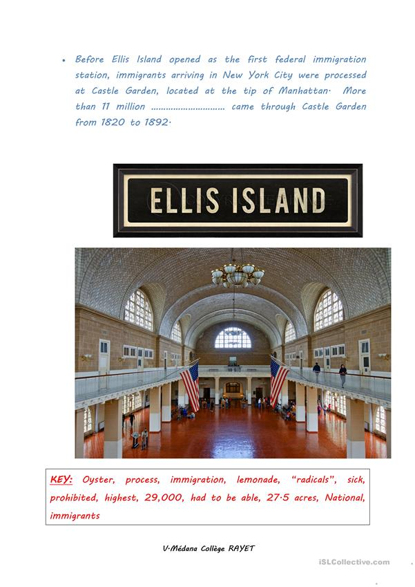 Facts about ELLIS ISLAND