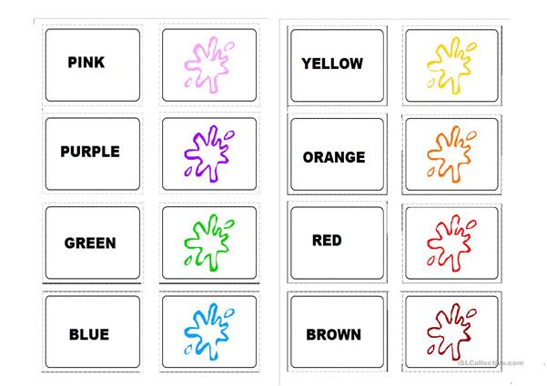 memory game :colours