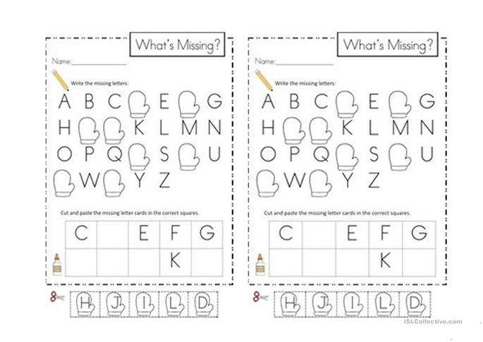 ABC missing letters worksheet - Free ESL printable worksheets made ...