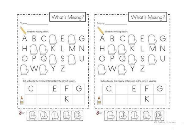 ABC Missing Letters - English ESL Worksheets For Distance Learning And  Physical Classrooms