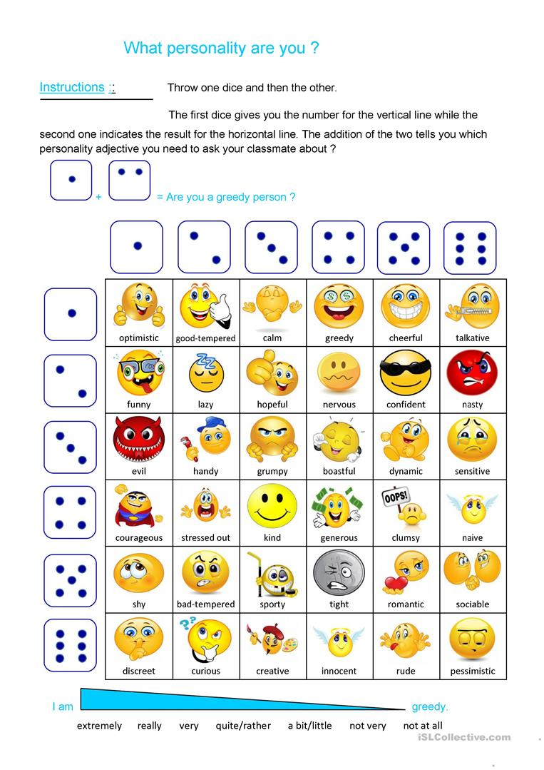 photograph regarding Printable Dice Games named Character cube activity - English ESL Worksheets