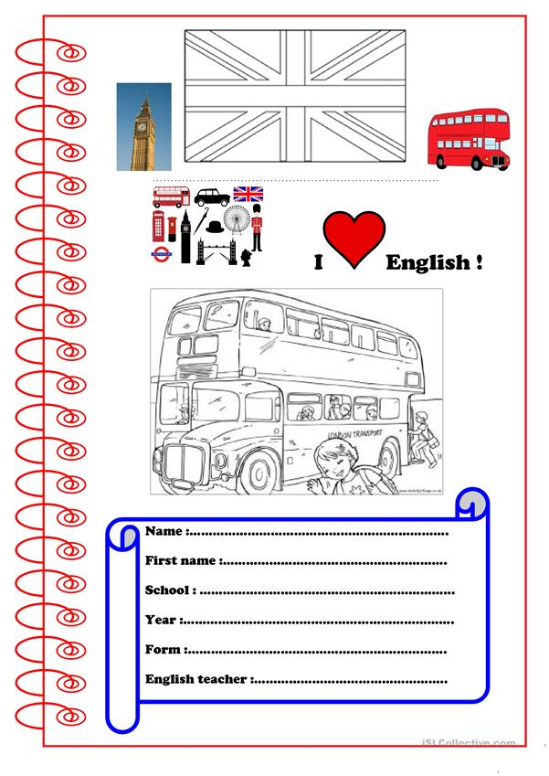 Copybook cover for young learners