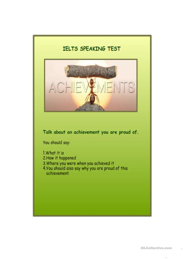 IELTS SPEAKING PRACTICE, ANSWERS AND EXERCISES