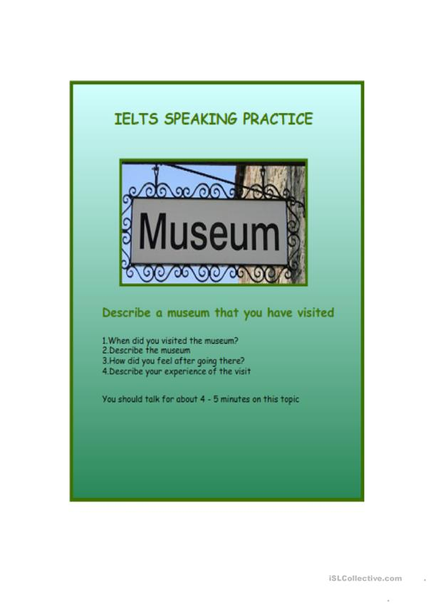 IELTS speaking practice - museums