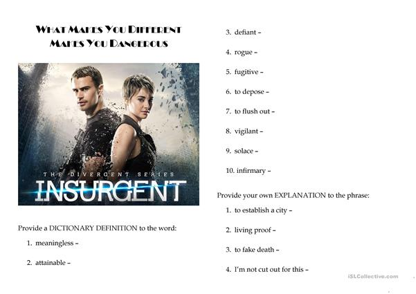 Insurgent (active vocabulary)