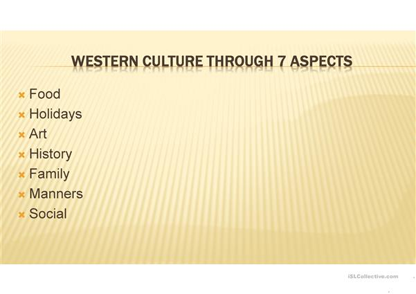 introduction to western culture