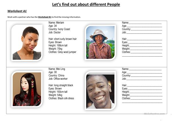 Let's Find Out about different People