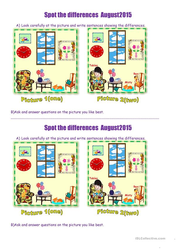 Spot the differences  August2015.