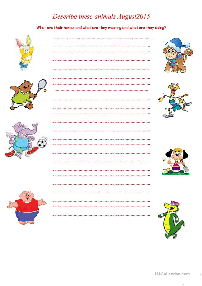 describe these animals august2015 worksheet free esl printable worksheets made by teachers. Black Bedroom Furniture Sets. Home Design Ideas
