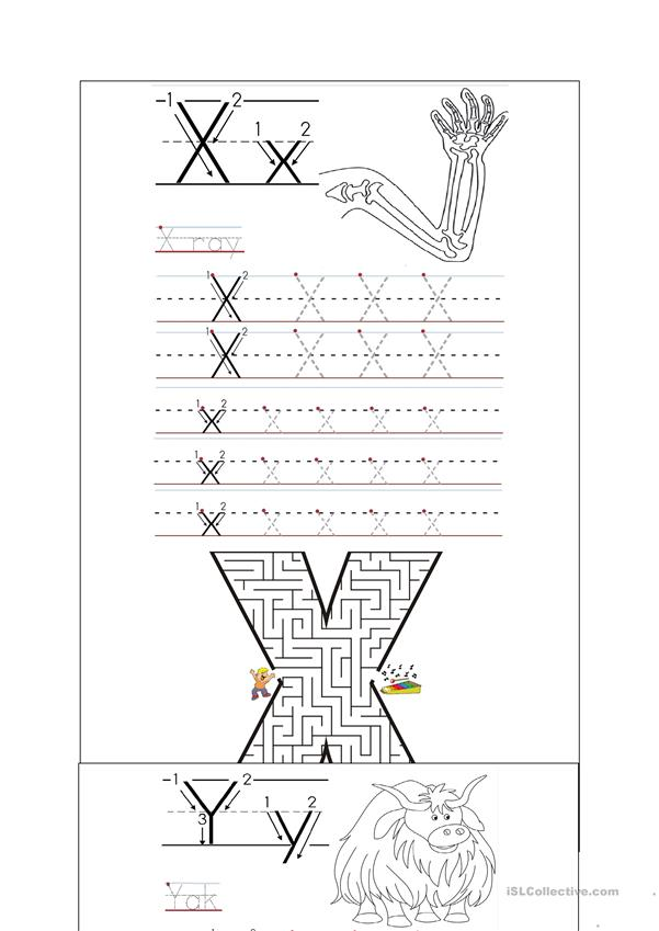 handwriting x z worksheet free esl printable worksheets. Black Bedroom Furniture Sets. Home Design Ideas