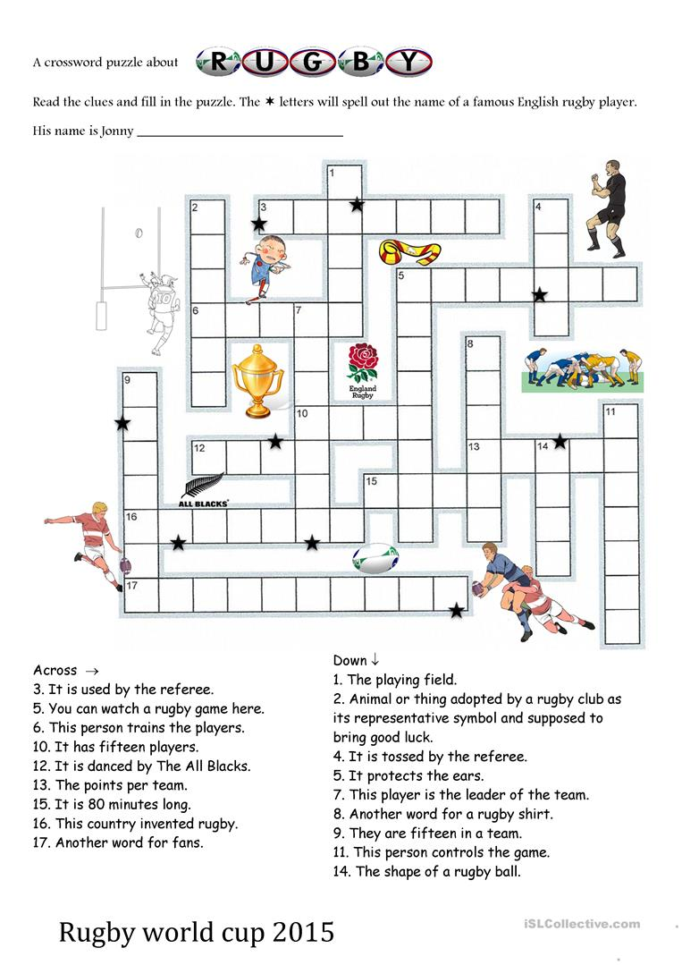 Rugby world cup 2015 crosswords worksheet free esl printable full screen buycottarizona Image collections