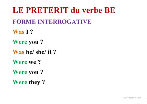 Be and Have - Present and Preterit forms