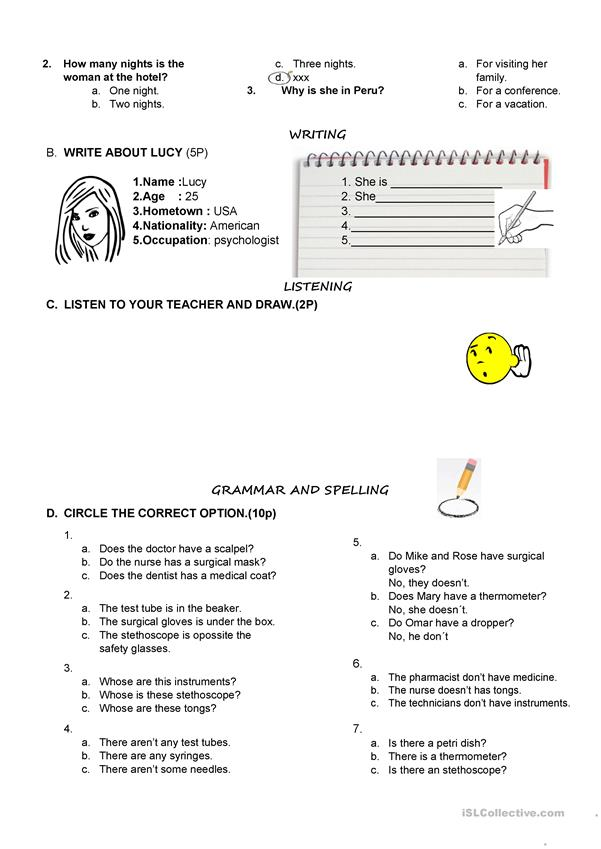MEDICINE WORKSHEET