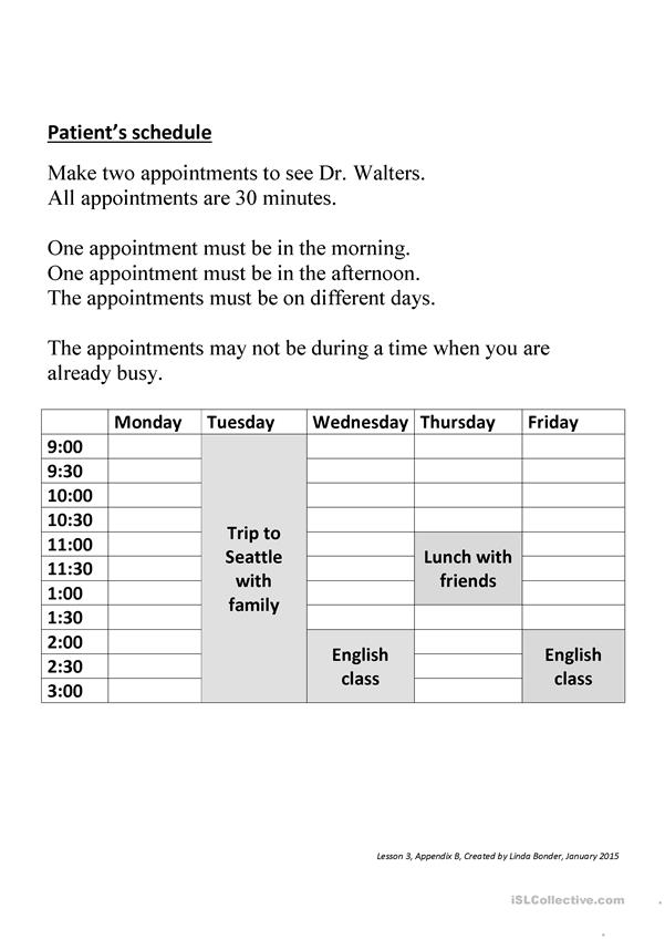 Scheduling doctor appointments