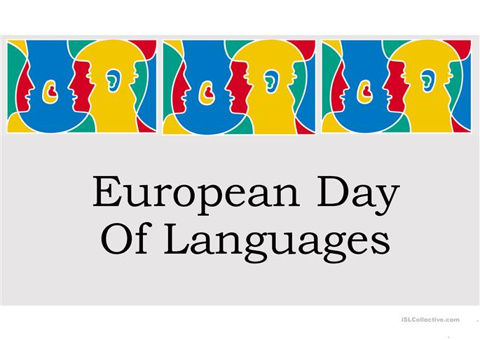 European Day of Languages - ESL powerpoints