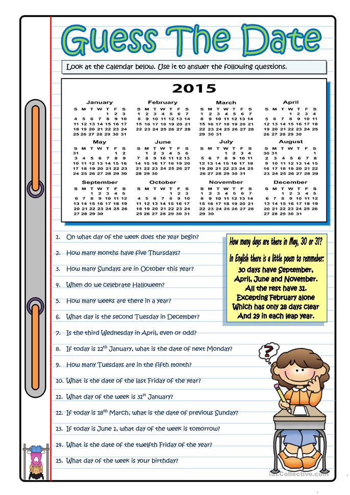 "Calendar Activities Esl : Search results for ""free printable calendar"