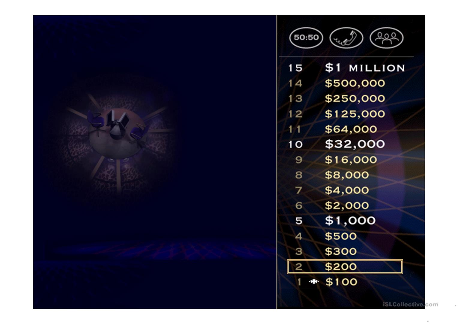 who want to be a millionaire game template - halloween who wants to be a millionaire game worksheet