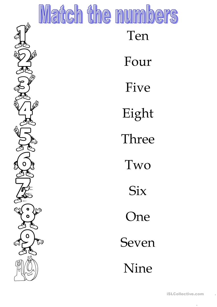 Numbers 1-10 worksheet - Free ESL printable worksheets made by teachers