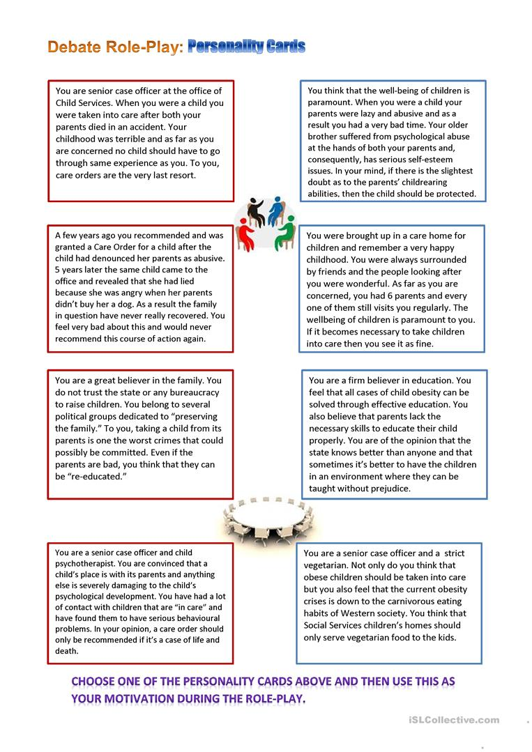 Obesity Reading and Role-Play worksheet - Free ESL printable