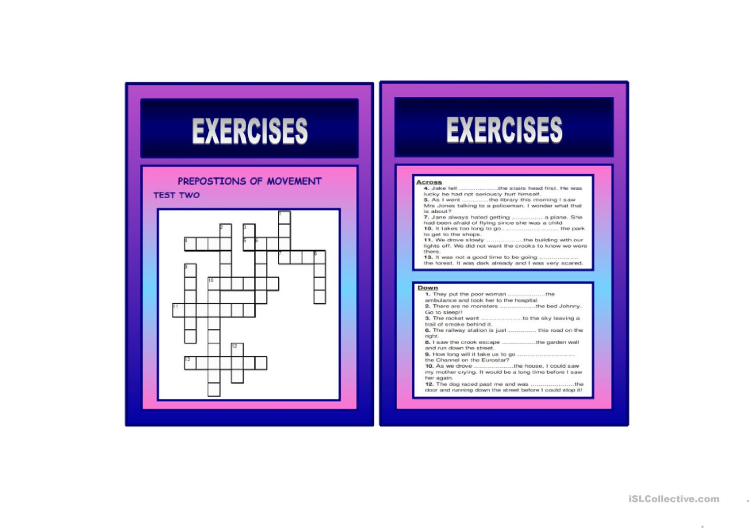 PREPOSITIONS OF MOVEMENT - IELTS SPEAKING AND WRITING