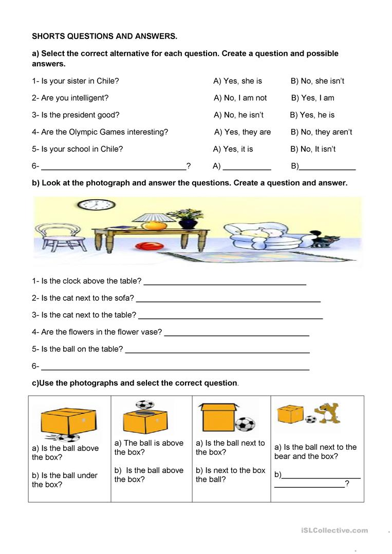 Short questions and answers. worksheet - Free ESL ...