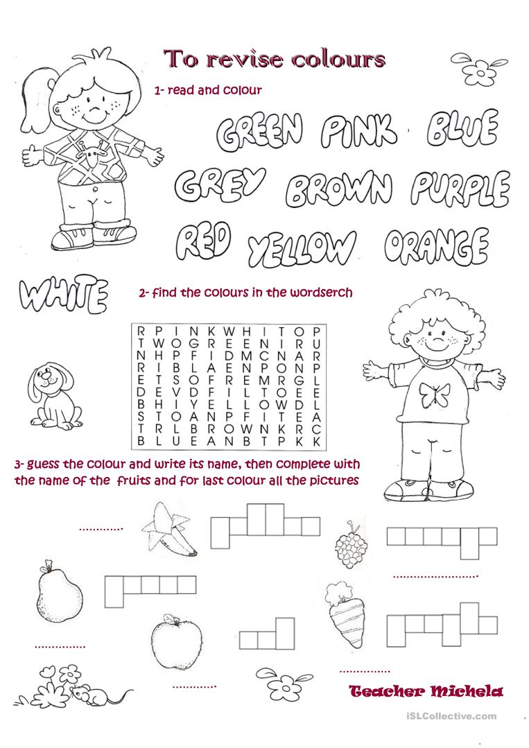 To Revise Colours English Esl Worksheets For Distance Learning And Physical Classrooms - 45+ Colour Name Worksheets For Kindergarten Pictures