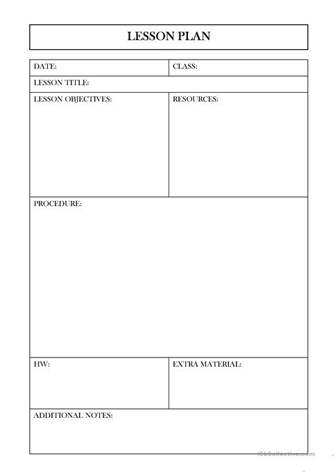 Lesson Plan Worksheet Free Esl Projectable Worksheets Made By Teachers