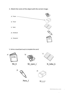 worksheets school french | French Worksheets for Children ...