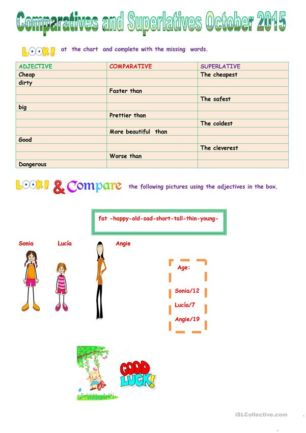 Comparatives and superlatives October 2015