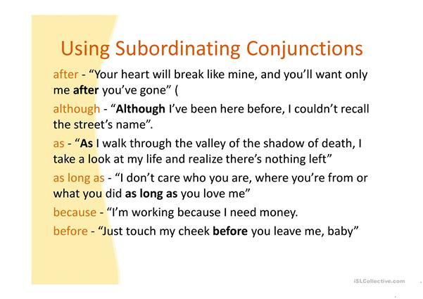 CONJUCTIONS
