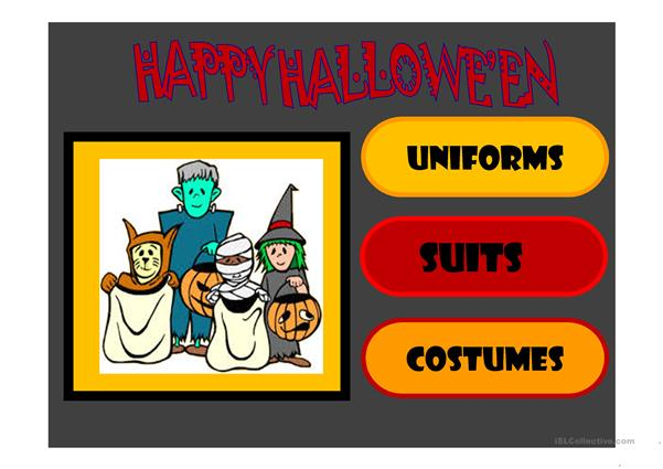 Halloween : 40 slide multiple choice quiz
