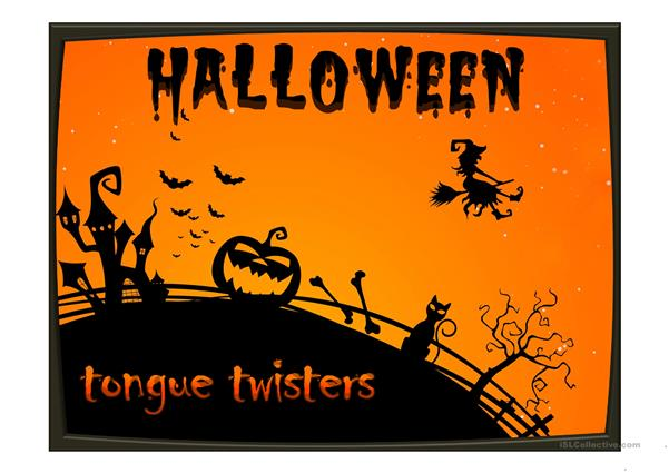 Halloween tongue twisters