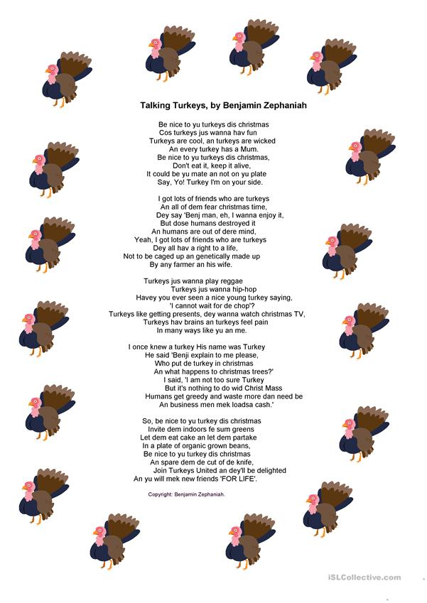 Talking Turkeys - Poem