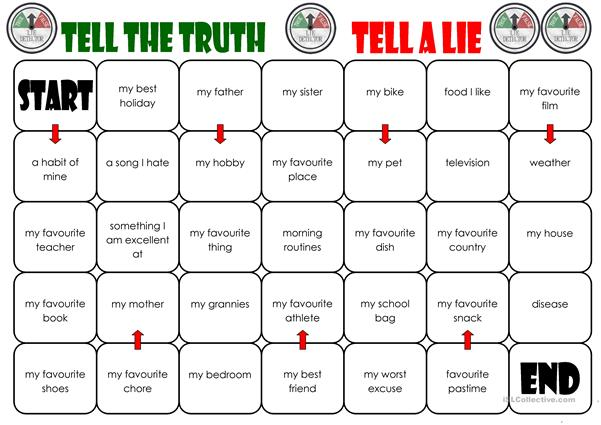 Tell the Truth/Tell a Lie Board Game