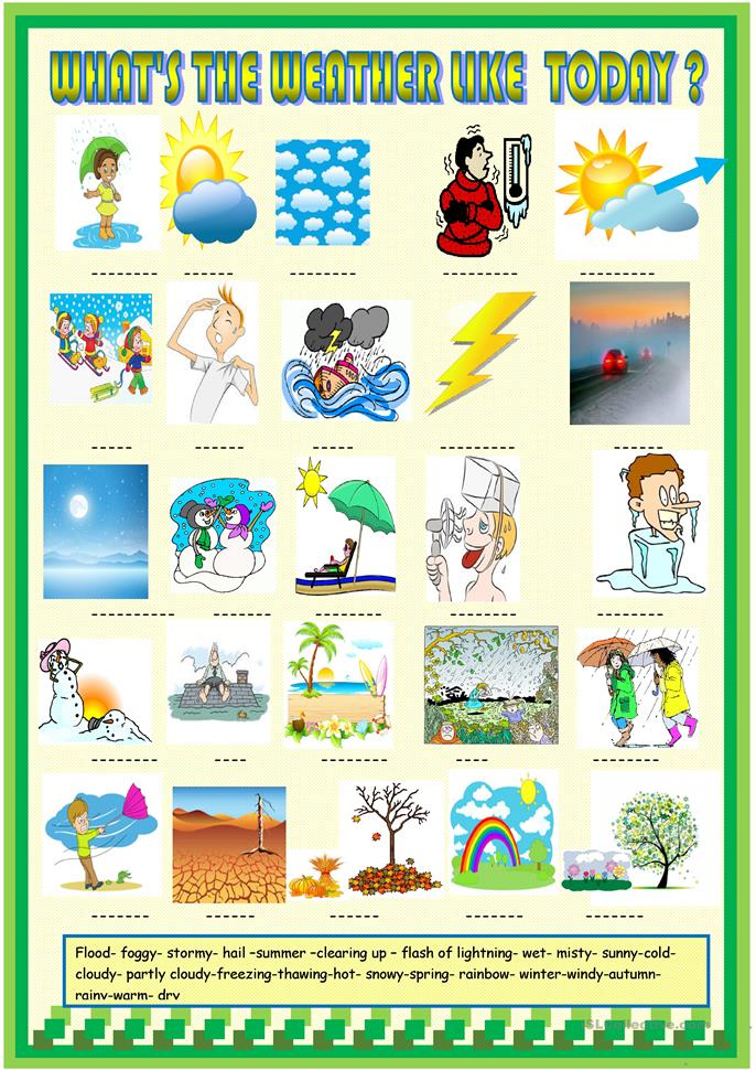 weather and seasons matching activity worksheet free esl printable worksheets made by teachers. Black Bedroom Furniture Sets. Home Design Ideas