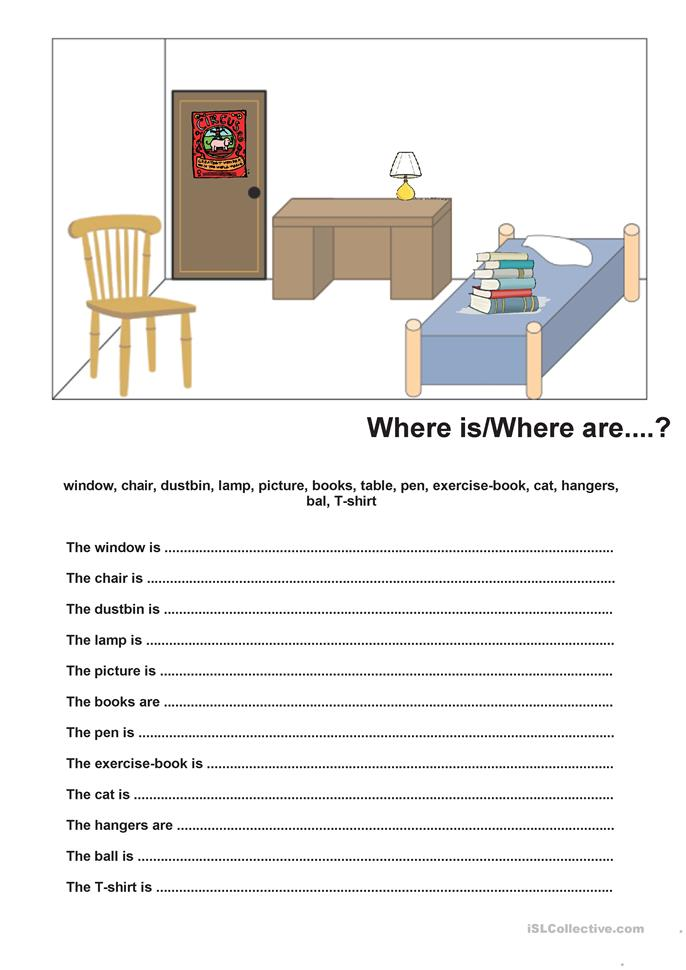Who What Where When Worksheets : Where is are worksheet free esl printable worksheets