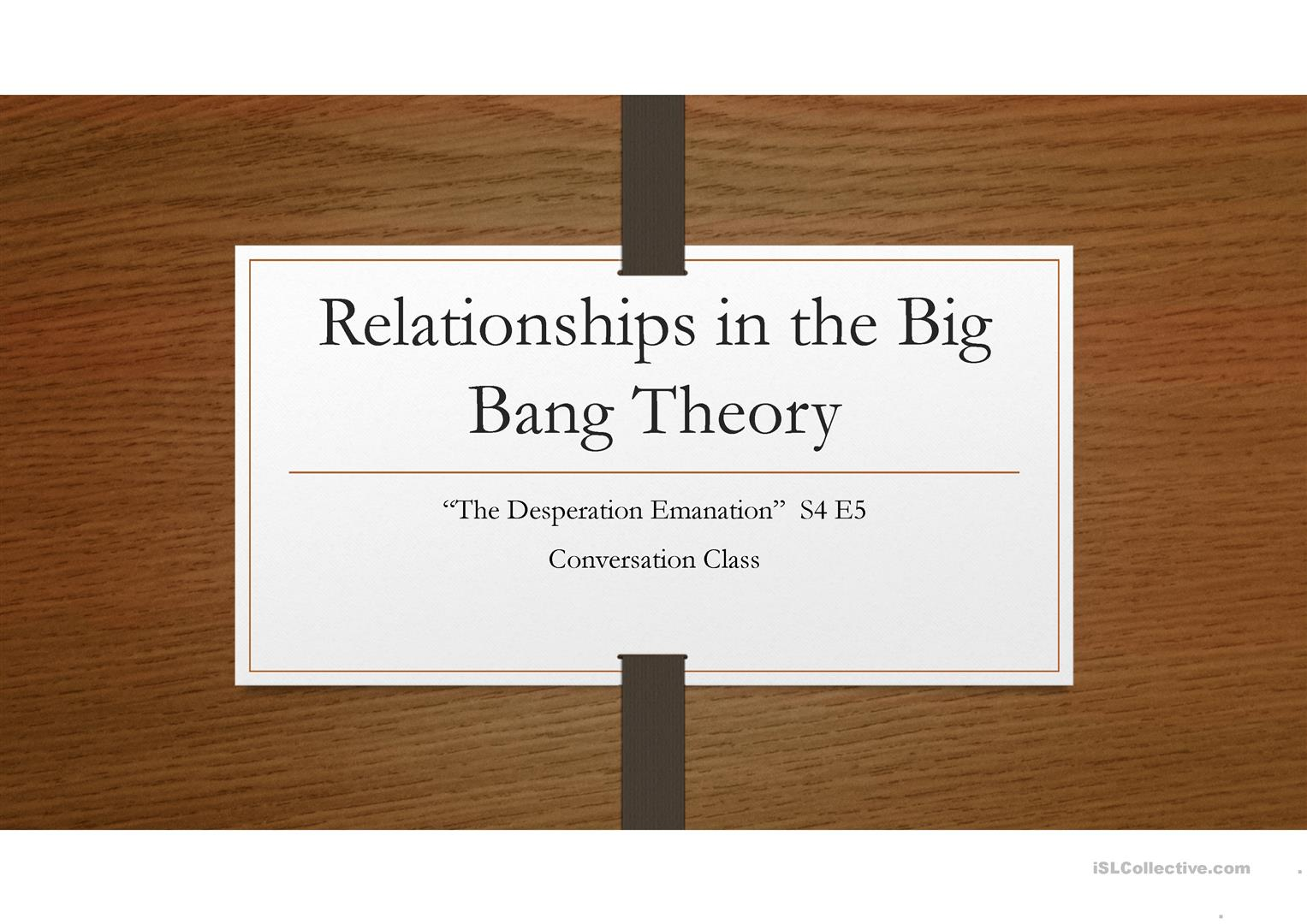 conversation class relationships in the big bang theory worksheet free esl projectable. Black Bedroom Furniture Sets. Home Design Ideas