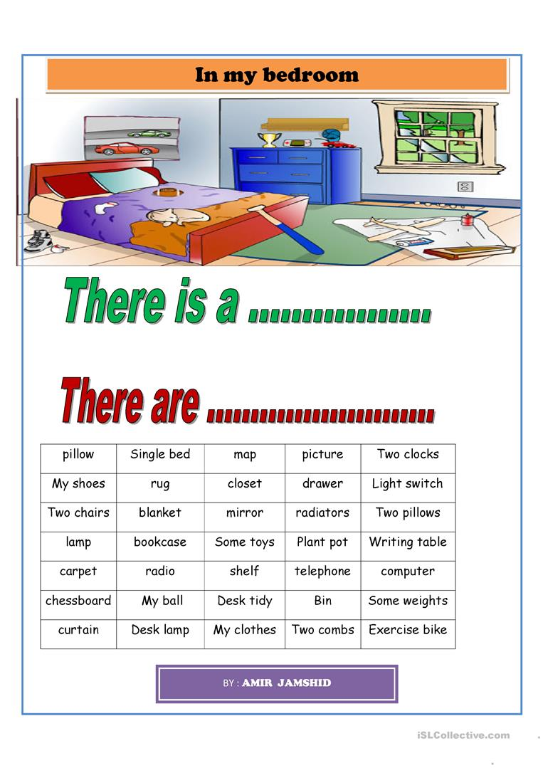 in my bedrooms worksheet - Free ESL printable worksheets made by ...