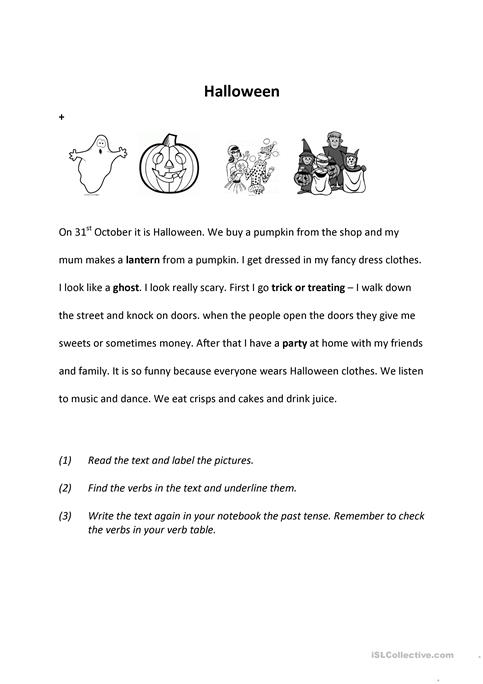 Halloween past worksheet - Free ESL printable worksheets made by ...