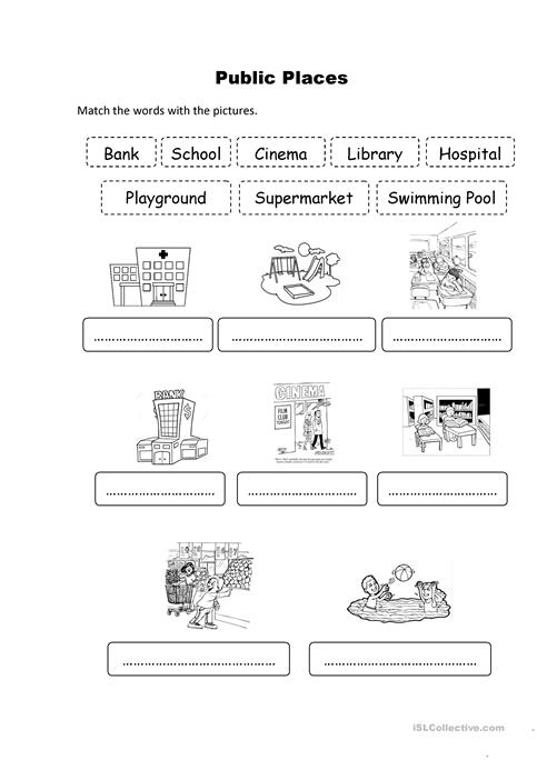 Public Places Worksheet Free Esl Printable Worksheets Made By Teachers