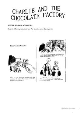 Charlie And The Chocolate Factory Worksheets - 8500 Chocolate Recipe